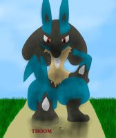 Crush little ant (macro Lucario) by Michael-95