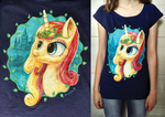 Miss Libussa handpainted Tshirt by Drawirm