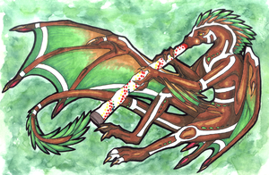 Tribal Dragon - Art Trade by HannuBananu