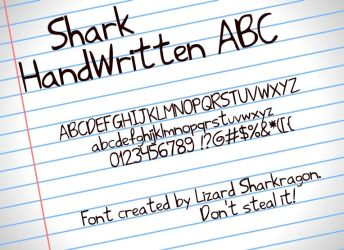 Font - Shark HandWritten ABC by TSM-Draws