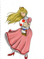 Peach and Toad by chillaxinjackson