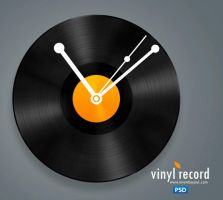 Vinyl Record Icon PSD by atifarshad