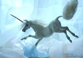 Water Leap Unicorn Sculpture by SovaeArt