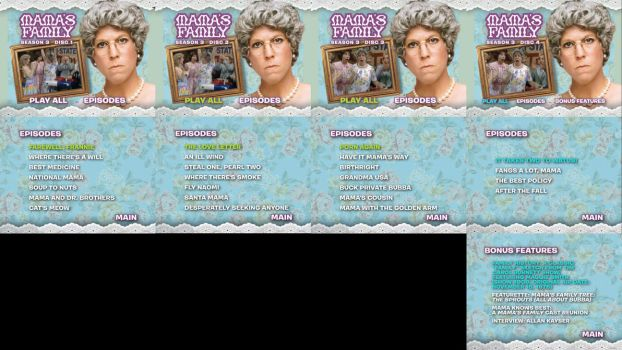 Mamas Family Season 3 DVD Menus by dakotaatokad