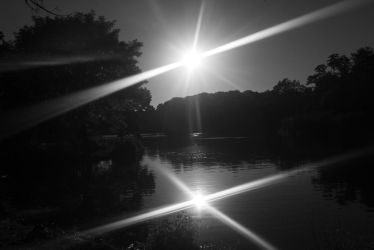 Black and White Sunset by adenisej25
