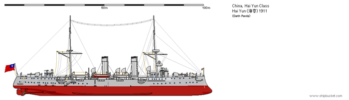 Chinese Protected Cruiser Hai Yun 1911 by darthpandanl