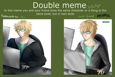 [Col] Double Meme with Escoatic (Ft. Agent Z) by TheAwesomeAki-kun