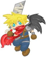 Chibi KH Cloud by gryphonworks