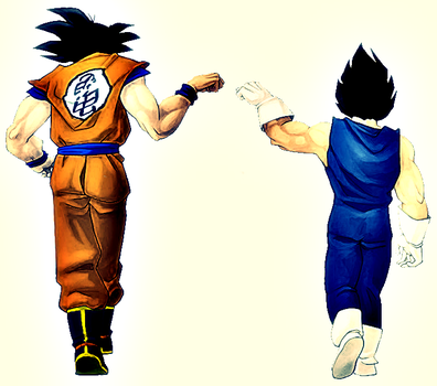 Goku and Vegeta Render by Gizmo199002