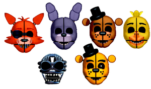 Ennard Masks Vague 1 (Classics) by TheRealBoredDrawer