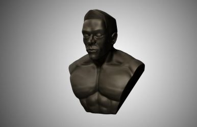 zbrush practice: a man by boishred