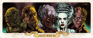 Classic Monsters - Print by CValenzuela
