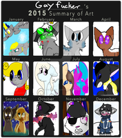 Art summary 2015 by Redpandaseas