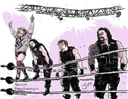 Daniel Bryan and The Shield by JonDavidGuerra