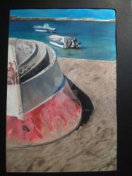 boats painting by majood