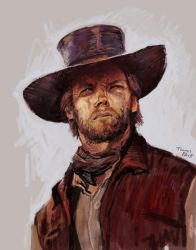 Clint Eastwood Study by Art--Tool