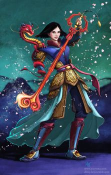 Hidden Dragon - Mulan by furafura