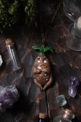 Grumpy Mandrake Necklace by Lavenderwitch
