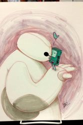 bmo hearts baymax commission by Peng-Peng