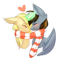 Christmas YCH for HexiePony by DaringPineapple