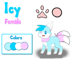 Icy Chibi Reference Sheet by IceBIue