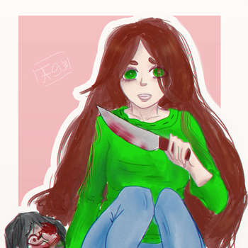 Yandere-tyan by Beisii