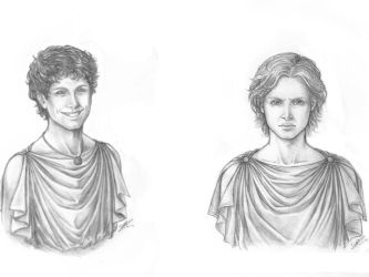 Hephaestion and Prince Alexander of Macedon 340BCE by AlexanderAeternus