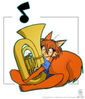 Scarlet on Tuba Fancolour by crazybucket123