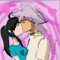 Request: Crystal and Dunamis kiss by YuzuErinaVictoria