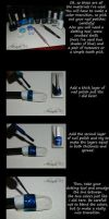 Space Nails Tutorial by LadyGWSY