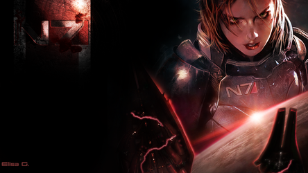 N7 Wallpaper - FemShep - 1920x1080 by Elisa-Gallion