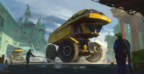 Inflatable Dump Truck 02B by fmacmanus