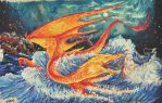 Downfall of the firedrake Smaug by Miruna-Lavinia