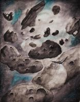 Through the asteroid field by Silberius