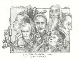 Tribute To Sir Christopher Lee by JonathanBPerez