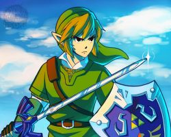 Link - Legend of Zelda: Skyward Sword by aquanut