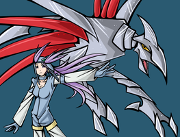 Winona and her Skarmory by DrawFag159381