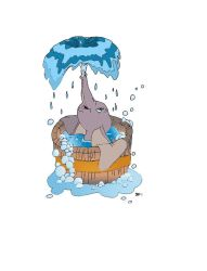 dumbo bath colored by Beans8604