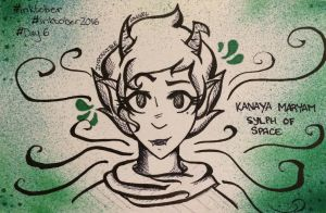 Inktober Day 6: Kanaya Maryam by ImmpiAngelous