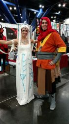 Comicpalooza 2015 - Wan and Raava by Imperius-Rex