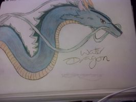 Water Dragon Drawing by epicbubble7