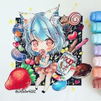 Fruit candies by chibiart202