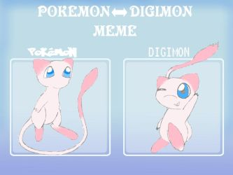 Pokemon-Digimon Meme: Mew by MiniDragonfly