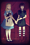 Alice Liddell and Fran Bow Dagenhart by SuweetoHaato