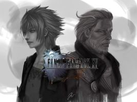 King Regis and Prince Noct by Jcomaeda