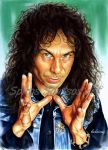 Ronnie James Dio painting portrait poster by SpirosSoutsos