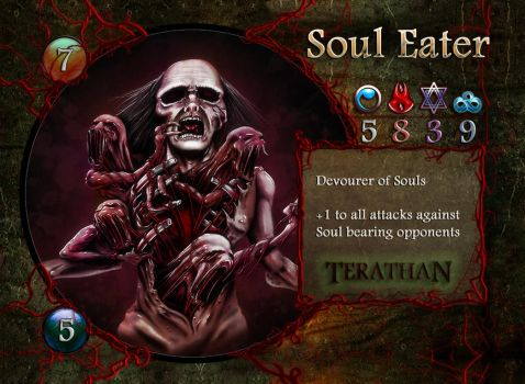 Terathan Concept Card - Soul Eater by ebizcraftsman