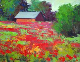 Poppies by the Barn by rooze23