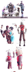TF2: More Robots dumps and Fake scoutbot by DarkLitria