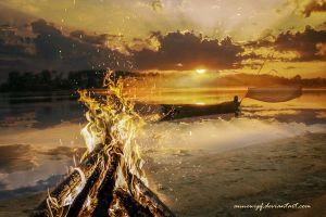 I Ching 30 - Li (The Fire, Clinging, Radiance) by annewipf